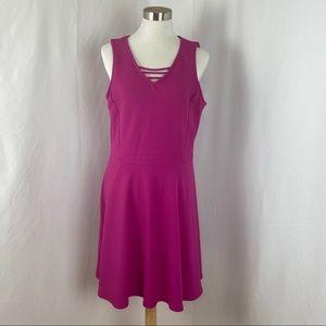 APT.9 Fushia V-Neck Dress Size Large